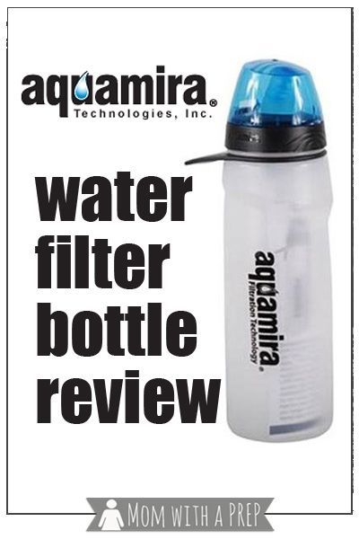 Aquamira Water Bottle Filter Review Huge Giveaway Mom With A Prep