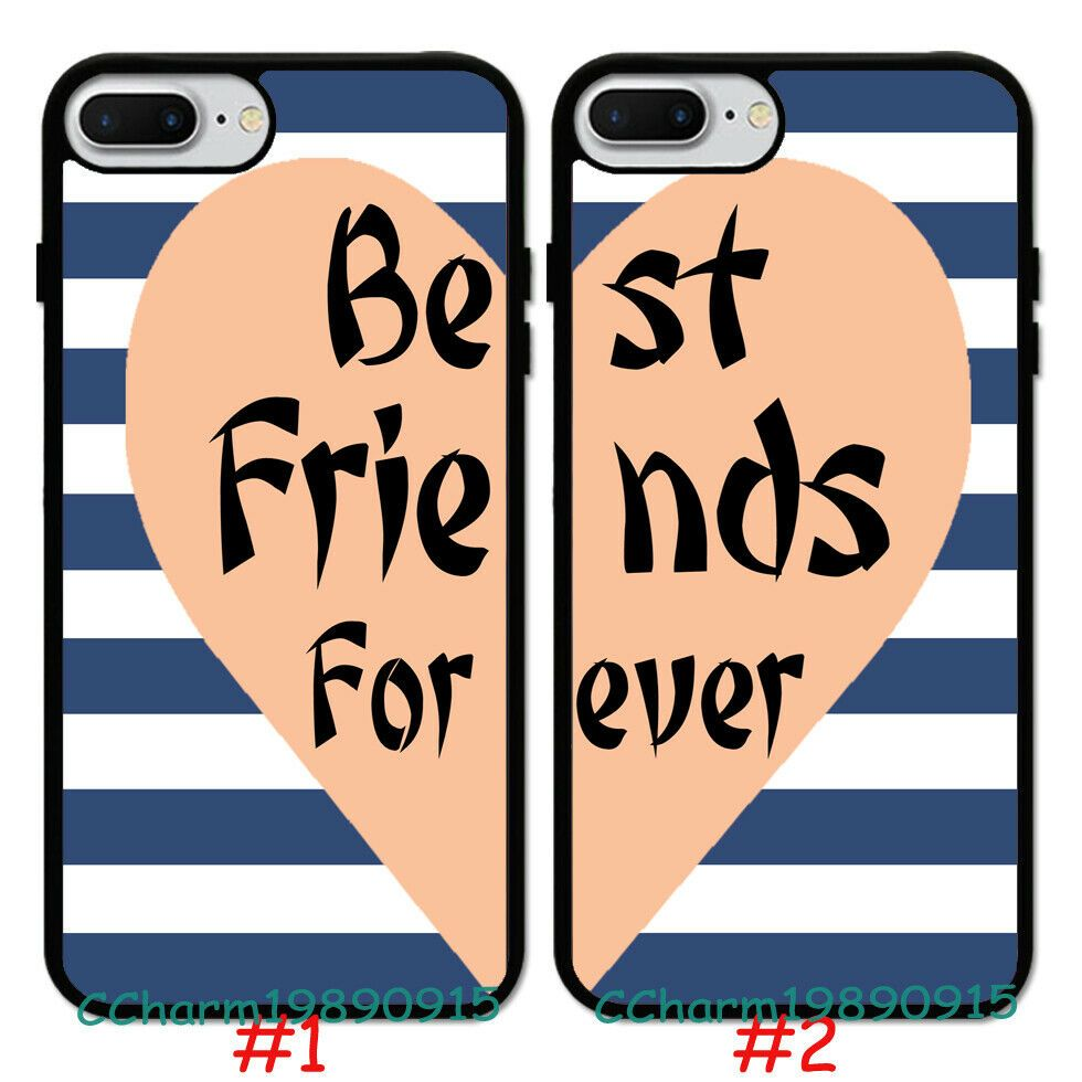 Chevron Best Friend Forever Pattern Rubber Case Cover For Iphone 7 8 Xs Max Unbrandedgeneric Friends Phone Case Bff Phone Cases Bff Iphone Cases