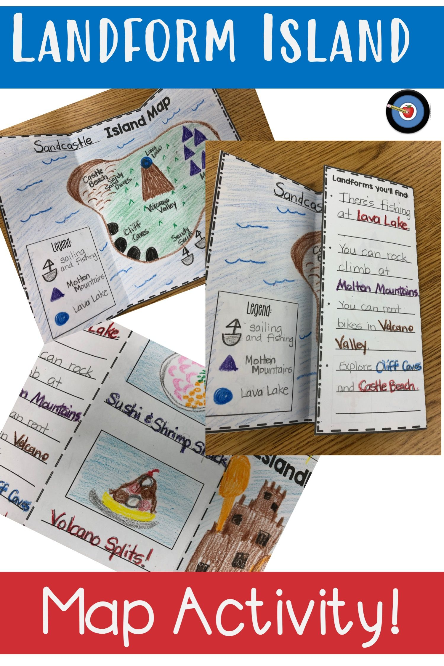 Landform Island Map Project In