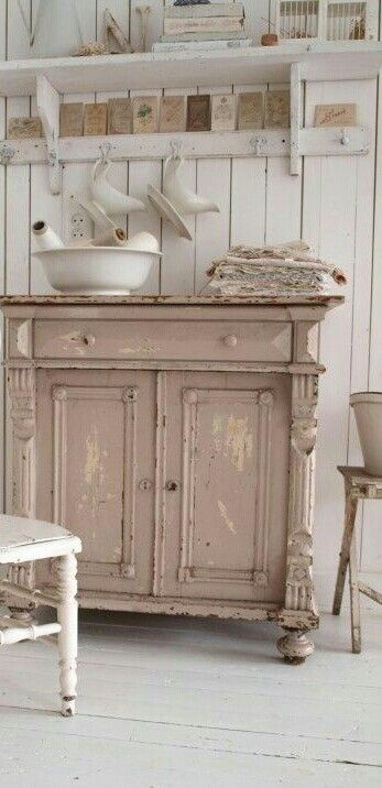 Shabby Pink Farmhouse French Country English Country Shabby