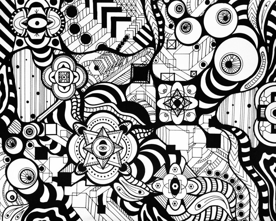 Abstract 1 Digital Wallpaper Marker Drawing
