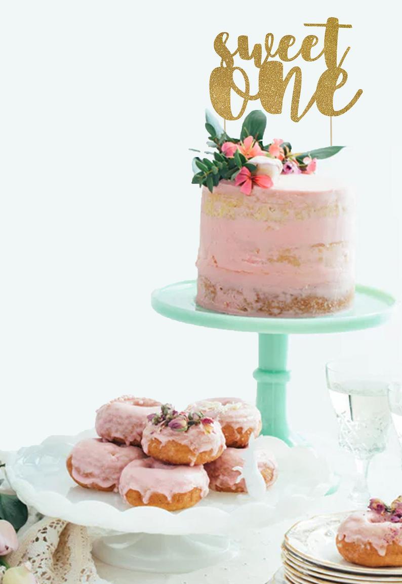 First Birthday Cake Topper | Custom Birthday Decorations | 1st Birthday Gold Cake Topper | Smash Cake Topper | Personalized Cake Topper