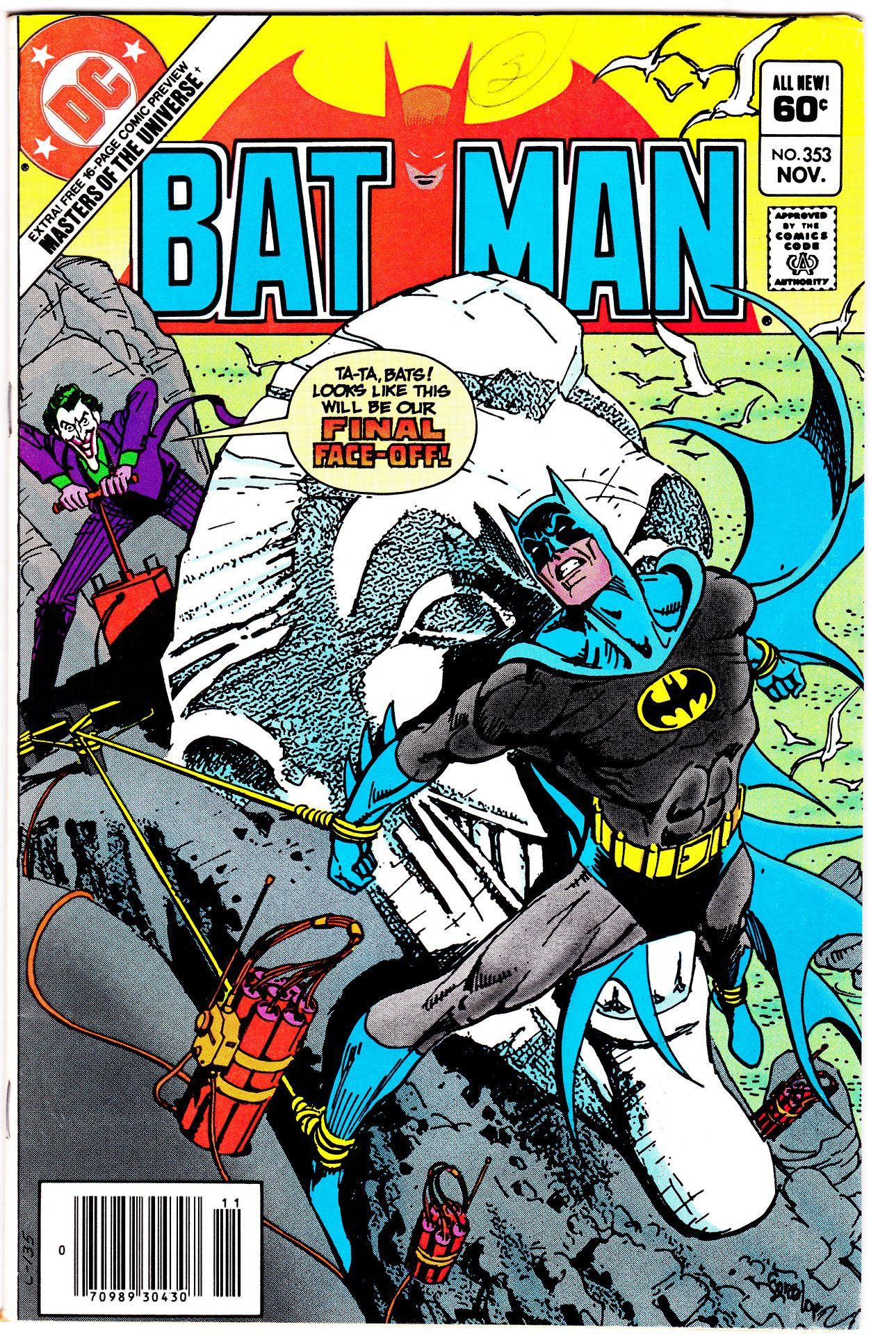 BATMAN #353 (Nov. 1982)Cover Art by Jose Luis Garcia-Lopez
