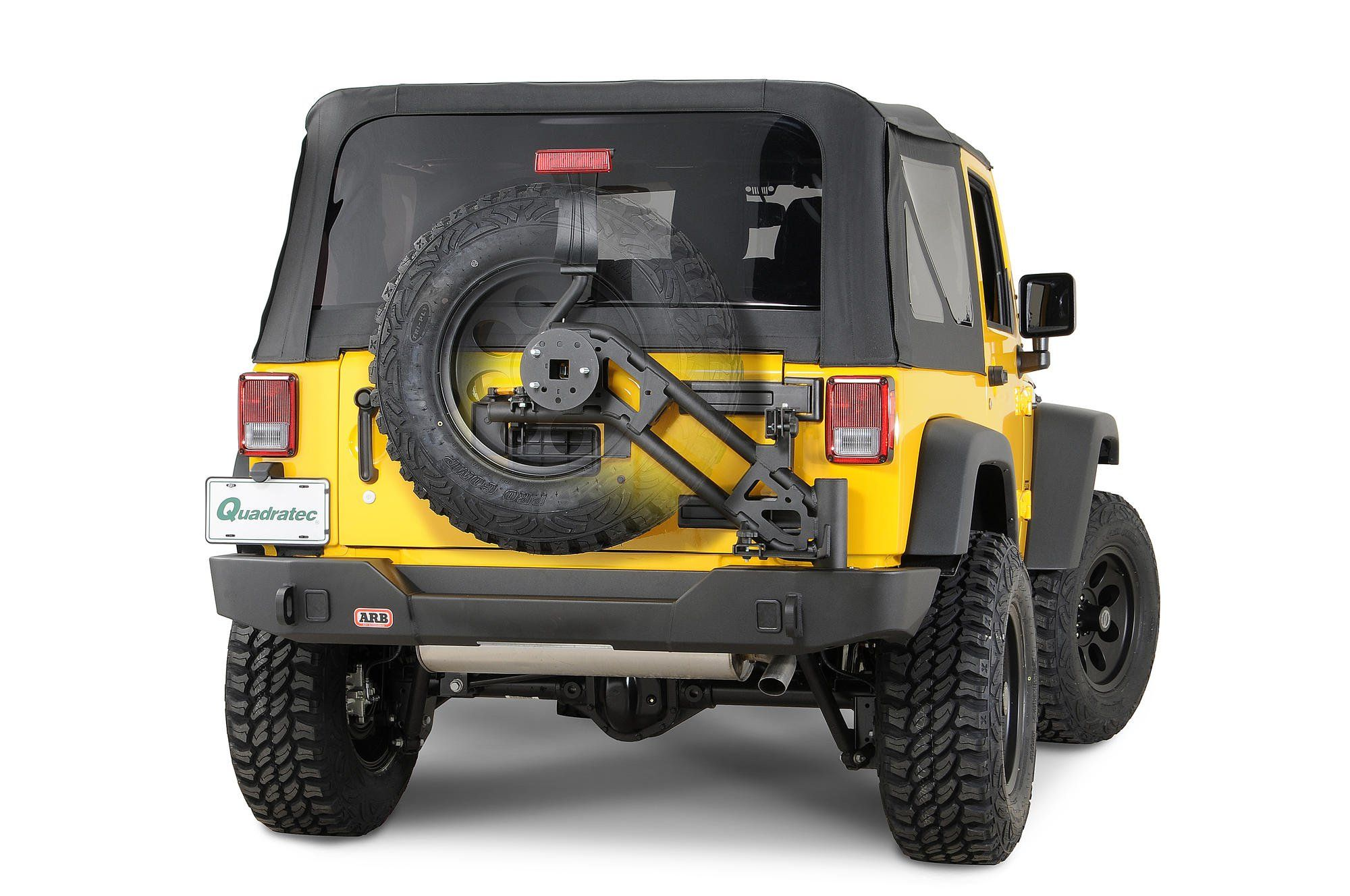 Delightful Modular Rear Bumper With Swing Away Tire Carrier For 07 15 Jeep® Wrangler  And