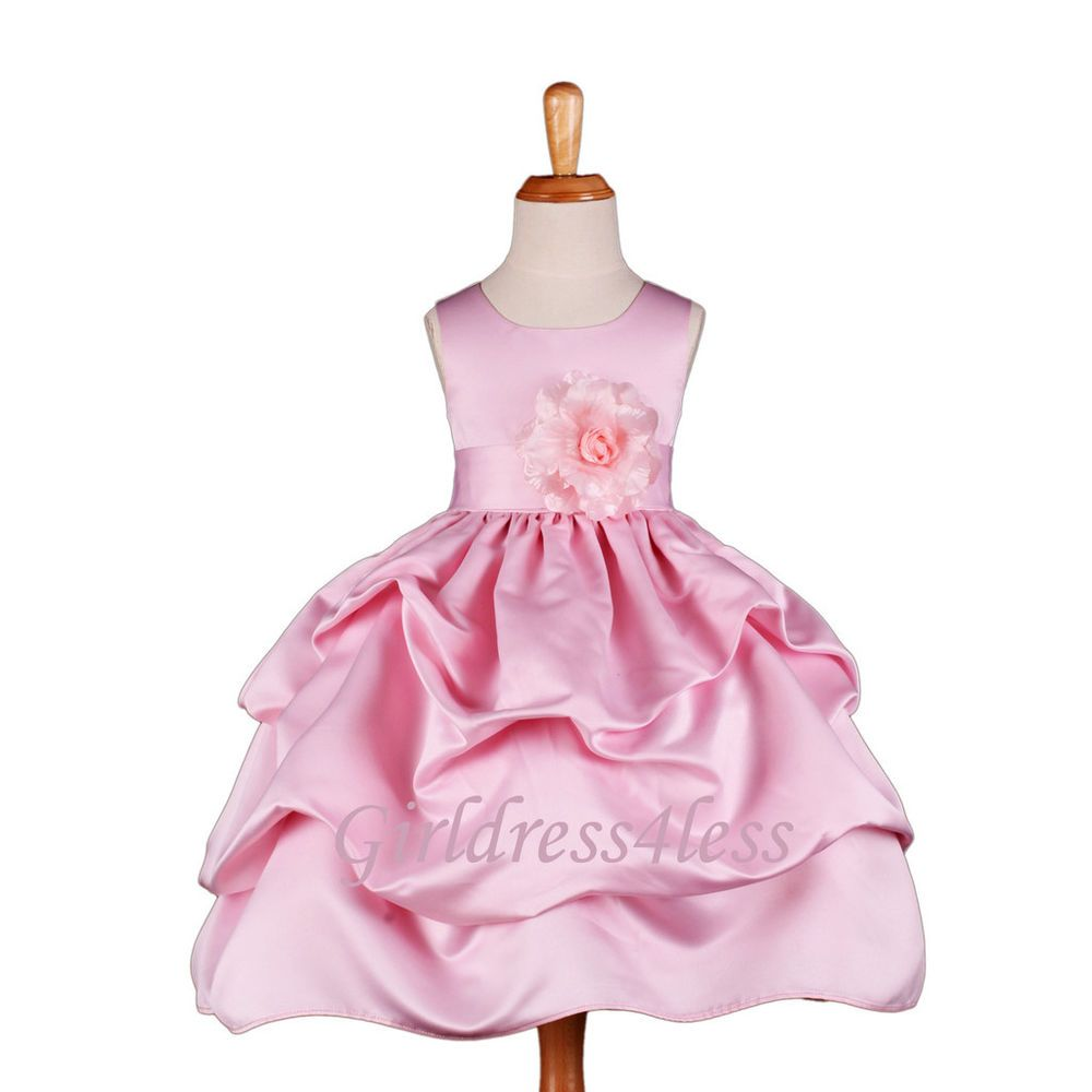 Baby dresses for wedding  NEW PINK WEDDING PICKUP BABY PICTURE FLOWER GIRL DRESS M M M