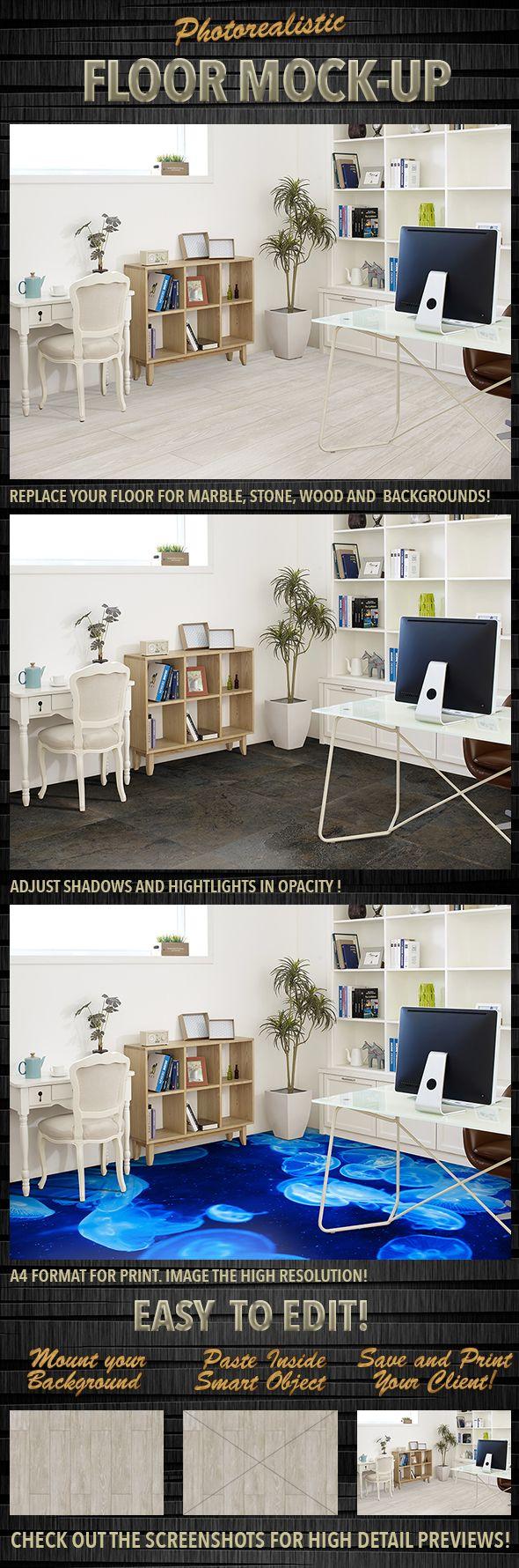Photorealistic Floor MockUp Mockup, Mockup design
