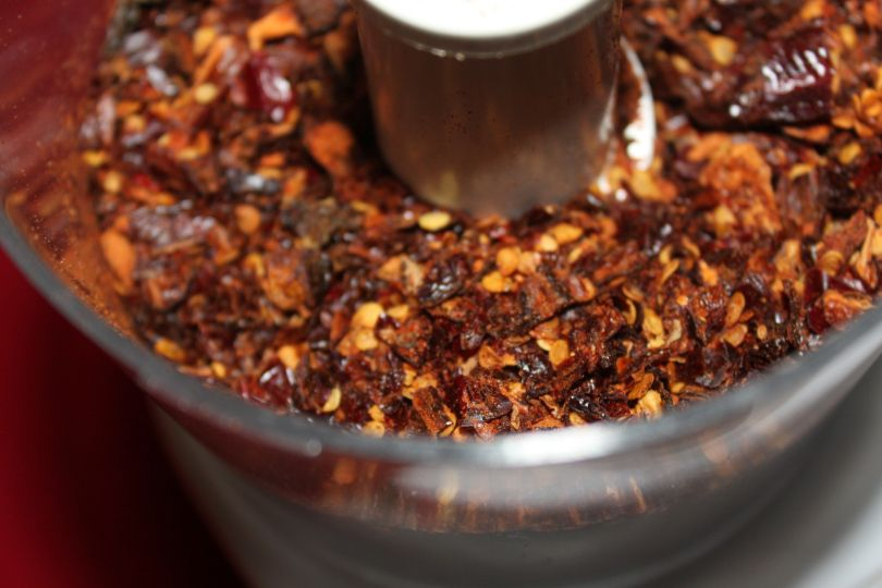Hot pepper flakes ground and ready to use!