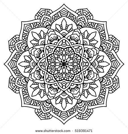 Vector Round Abstract Circle Mandala Style Mandala Coloring Pages Mandala Coloring Pictures