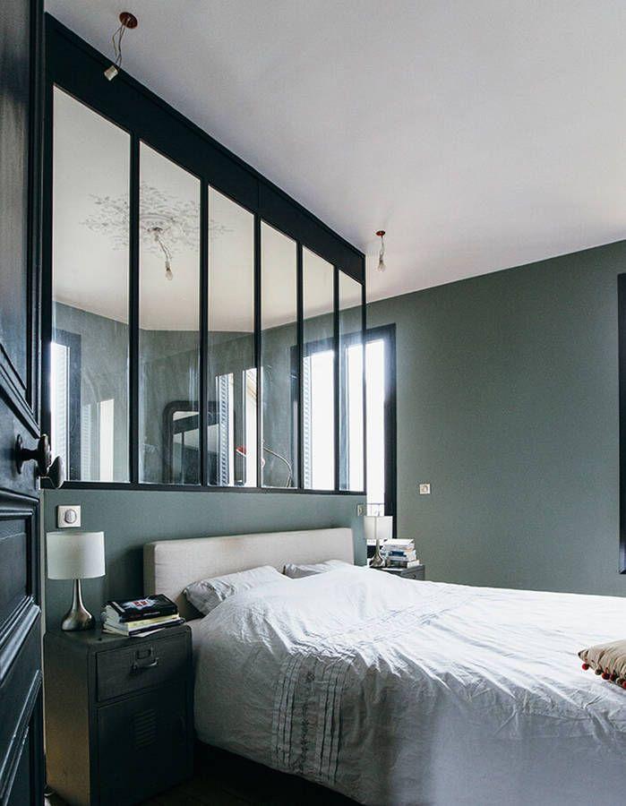 Chambre vert olive et verrière aluminium   Verrières / Industrial ...