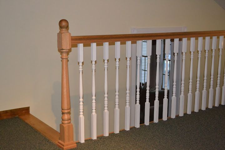 Notice The Balusters Were Painted Antique White To