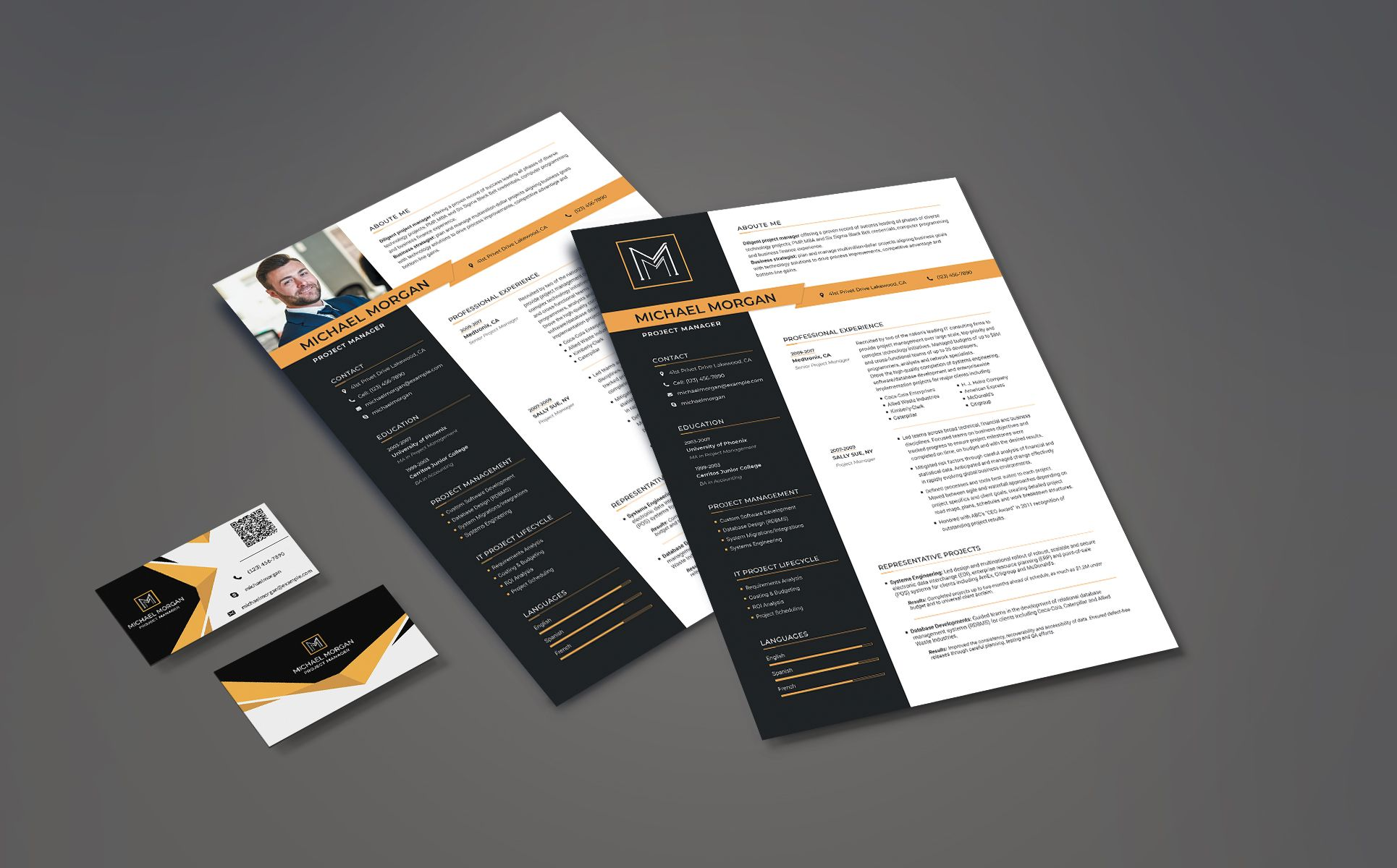 Michael Morgan Project Manager Resume Template 78668 Project Manager Resume Resume Template Manager Resume