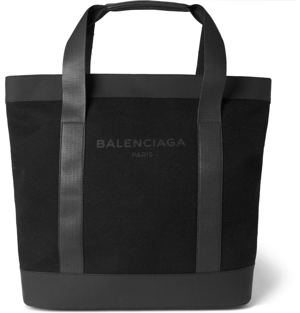 1f5af5021126 Balenciaga - Canvas and Leather Tote Bag