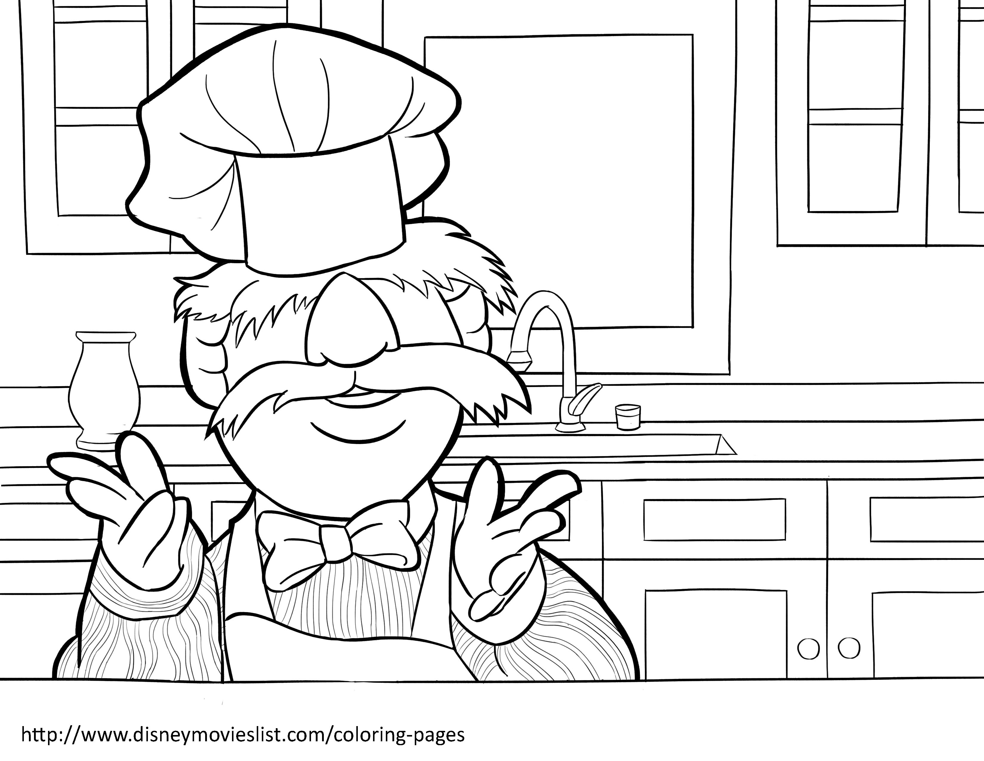 Disney S The Muppets Swedish Chef Coloring Page