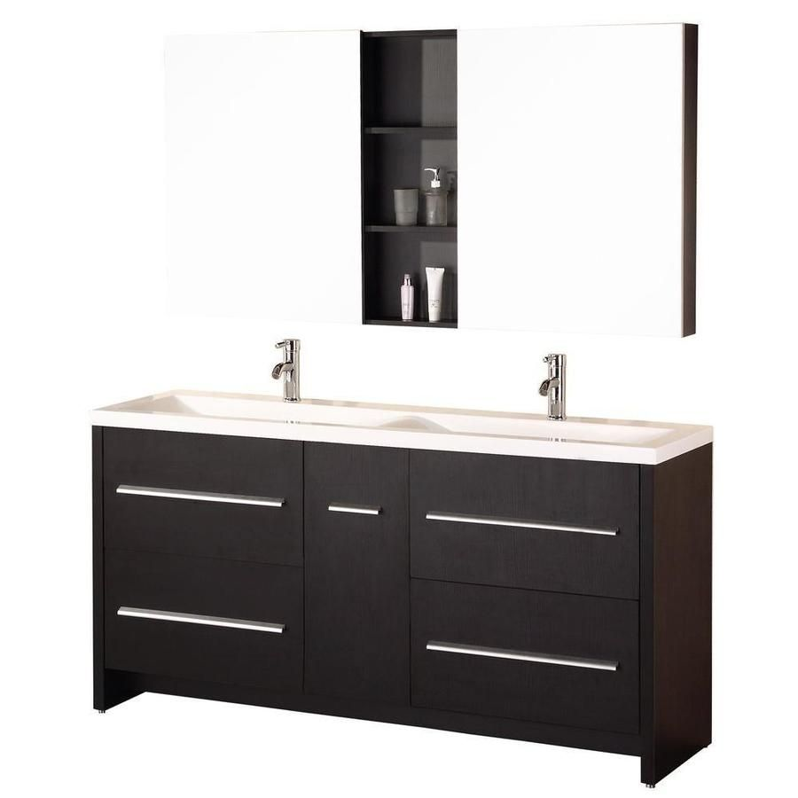 Design Element Designer S Pick 72 In Espresso Double Sink Bathroom