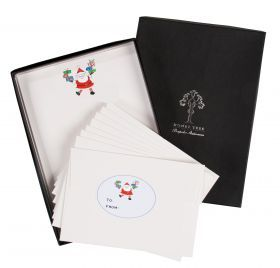 Father Christmas illustrated Christmas Writing Paper And Sticker Set from HoneyTreeBespoke.com