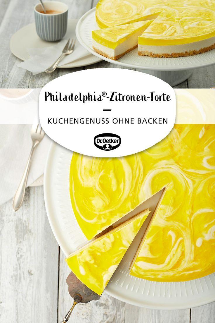 Philadelphia®-Zitronen-Torte #tortenrezepte