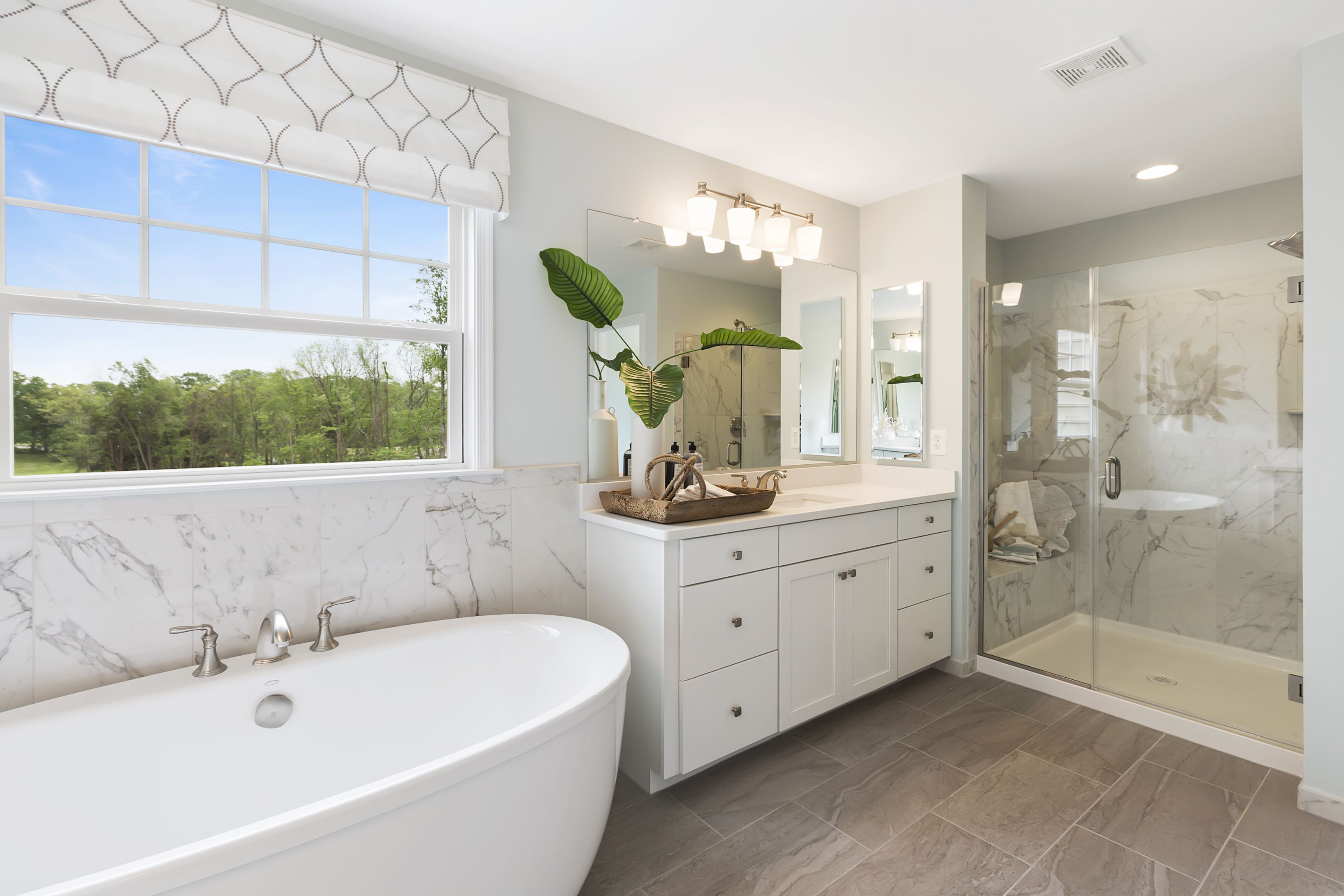 Van Metre Homes - The Southbury Model at Sunberry - Master Bathroom ...