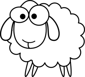 Outline Sheep clip art - vector clip art online, royalty ...