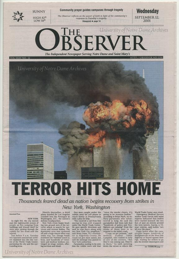 issue of the terrorist attacks of september 11 2001 In re terrorist attacks of september 11, 2001 (in re terrorist attacks) is a case consolidated for pre-trial purposes in the us district court for the southern district of new york 37 the second circuit court of appeals' opinion reviewed dismissals of only a subset of the claims at issue in the case.