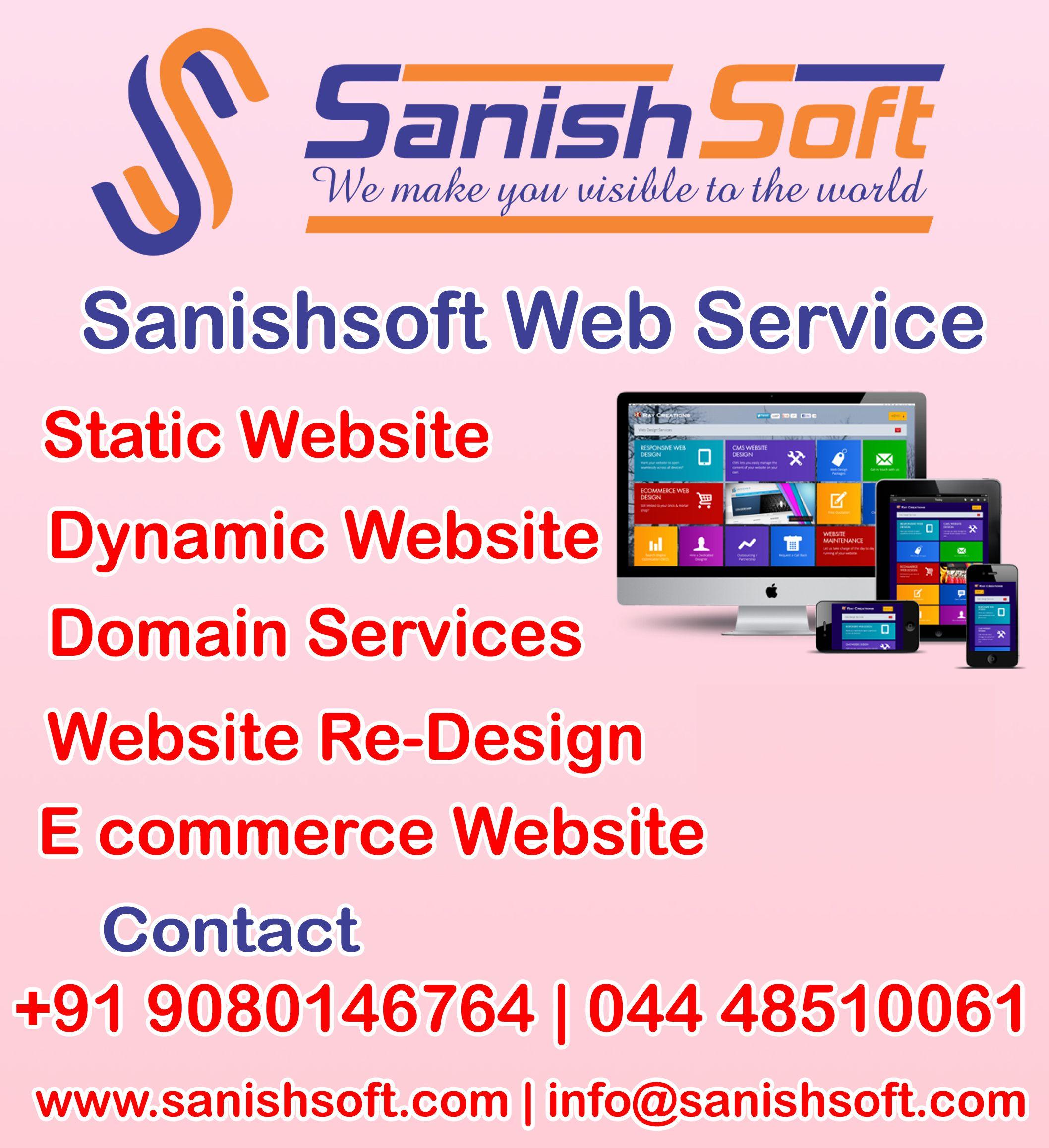 Sanishsoft Web Service Company In Chennai Website Design Company Web Development Company Web Design Company