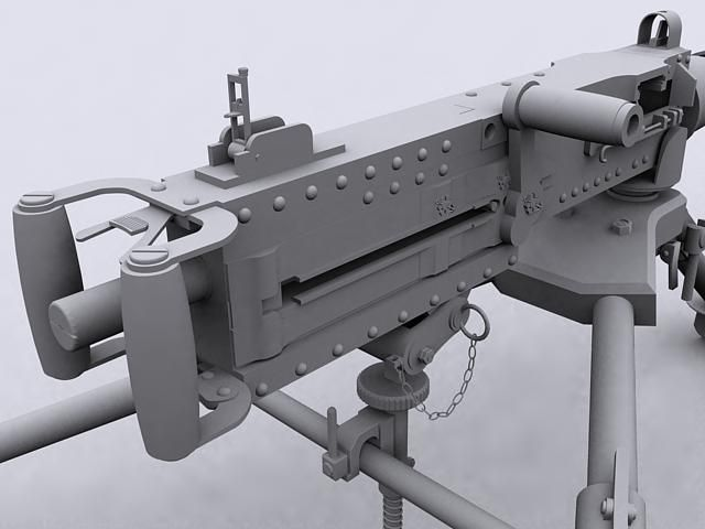 3D Model Browning M2 c4d, obj, 3ds, fbx, ma, lwo 7959