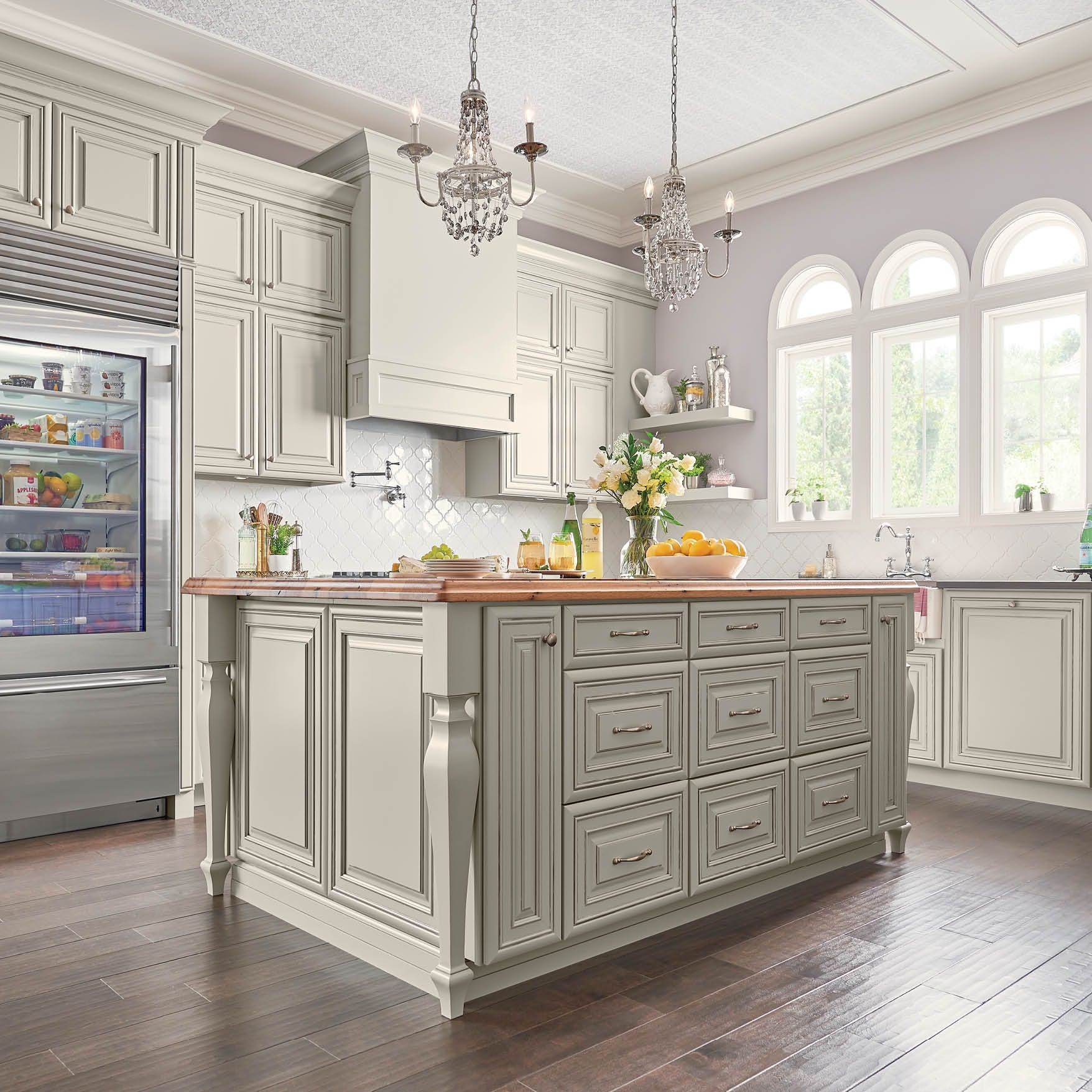 There Is So Much To Love About This Island 740 Painted Ember Glaze Chantilly Legs And Drawers Glazed Kitchen Cabinets Kitchen Cabinets Showroom Kitchen Design