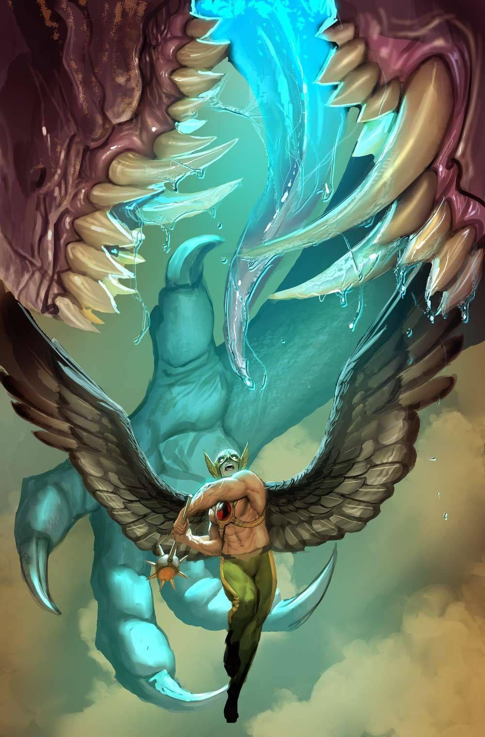Hawkman by nebezial stjepan sejic desenho de
