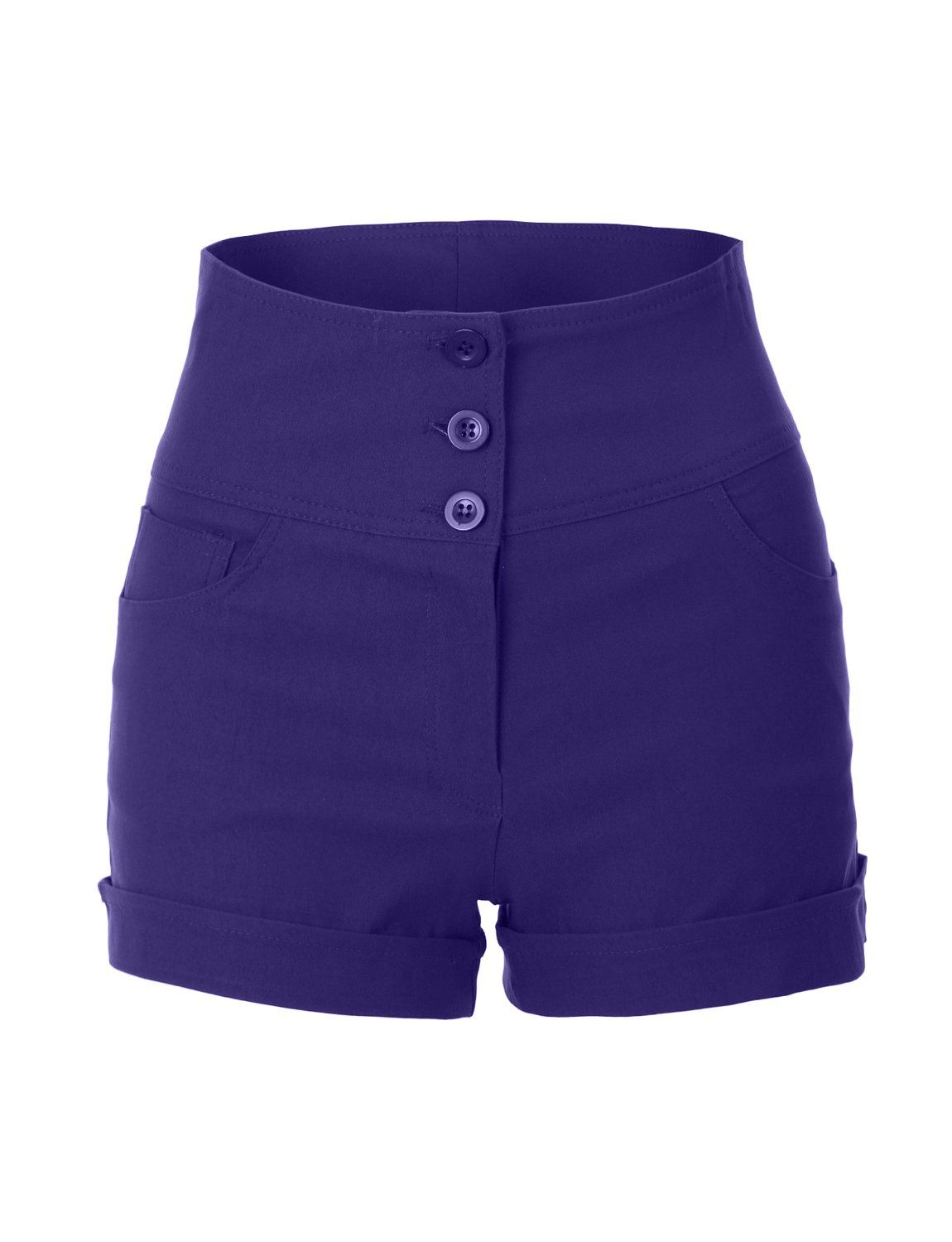 RubyK Womens High Waisted Sailor Shorts with Stretch at Amazon Women's Clothing store: