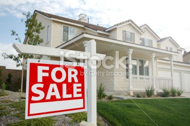 Home For Sale Real Estate Sign Royalty Free Stock Photo