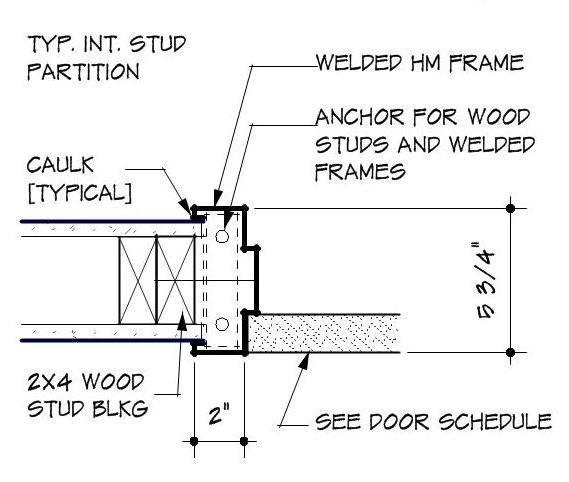 Https Thinkarchitect Files Wordpress Com 2013 11 Typical Hm Door Jamb Detail1 Jpg Drawing Furniture Door Detail Wooden Door Design