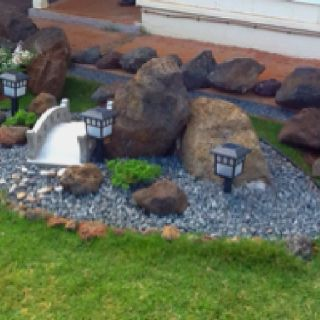 DIY Japanese rock garden for small unused shady area ...