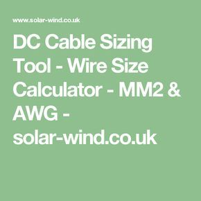 Dc cable sizing tool wire size calculator mm2 awg solar wind dc cable sizing tool wire size calculator mm2 awg solar wind greentooth Gallery