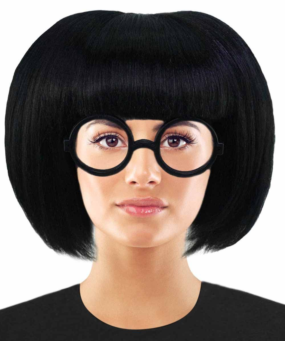 Incredible 2 Fashion Designer Edna Mode Wig Edna Mode Wig With Glasses Set Tv Movie Wigs Premium Breathable Capless Cap Edna Mode Wigs Halloween Costume Wigs