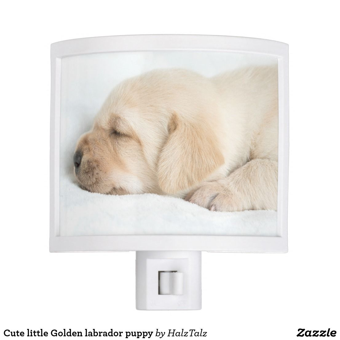 Cute Little Golden Labrador Puppy Night Light Zazzle Com