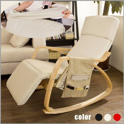 Sobuy Comfortable Relax Rocking Chair With Foot Rest Design