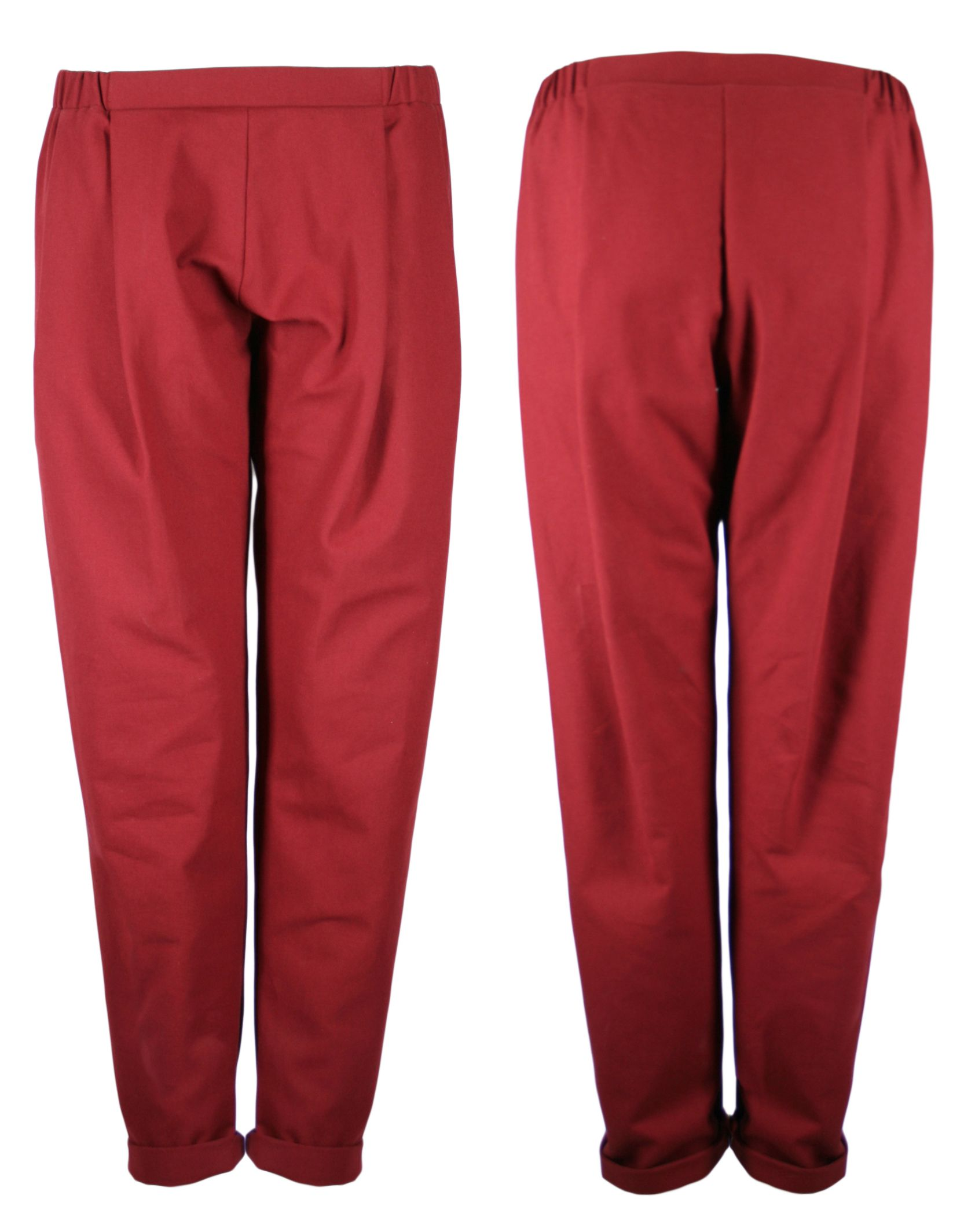 the rust canvas unisex COSY II pants out of 100% organic cotton by format available at WESEN