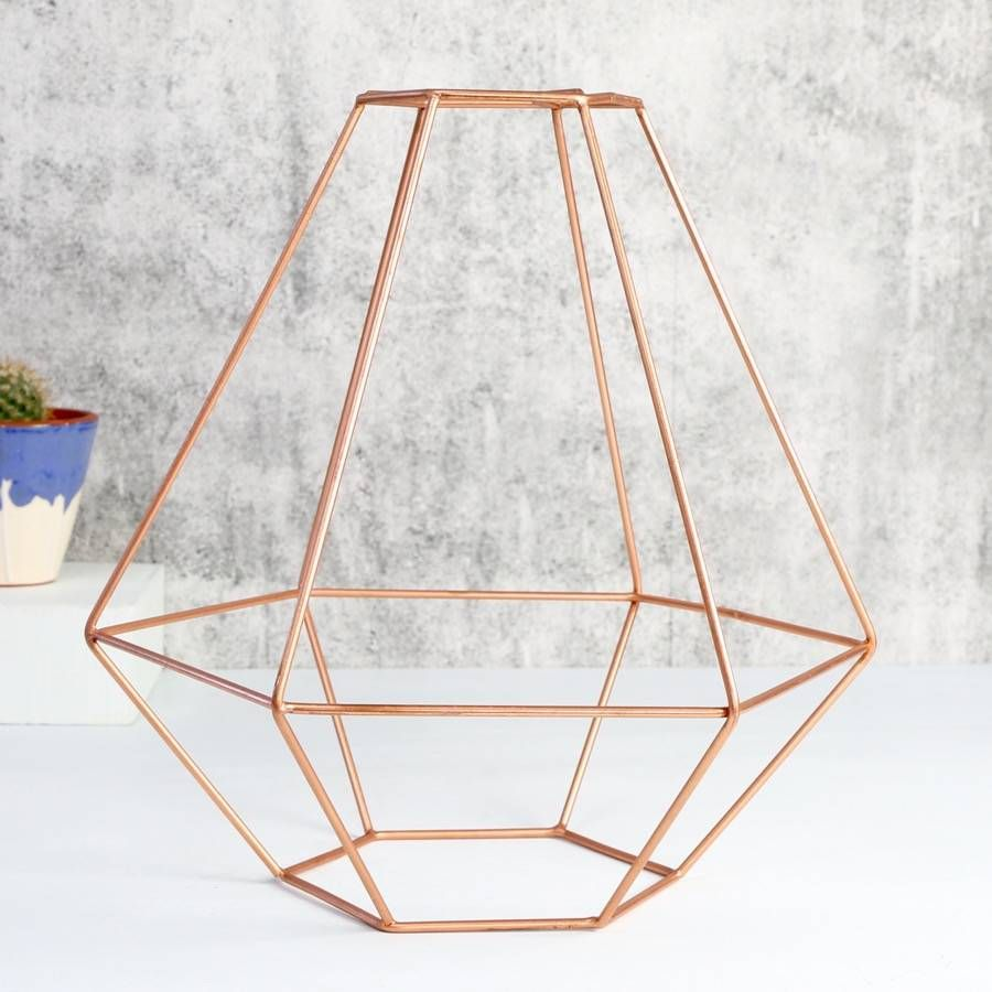 Vintage Style Copper Wire Lamp Shade   Pinterest   Lighting ...
