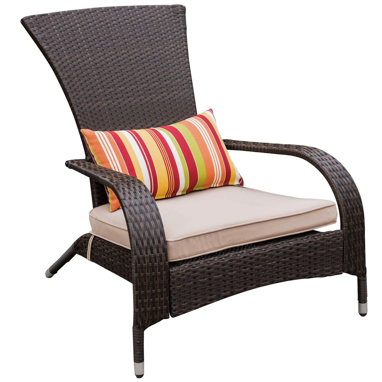 Deluxe Wicker Adirondack Chair Outdoor Patio Yard Furniture All Weather With Cushion And Pillow With Images Outdoor Chairs Cheap Patio Furniture Cheap Modern Furniture