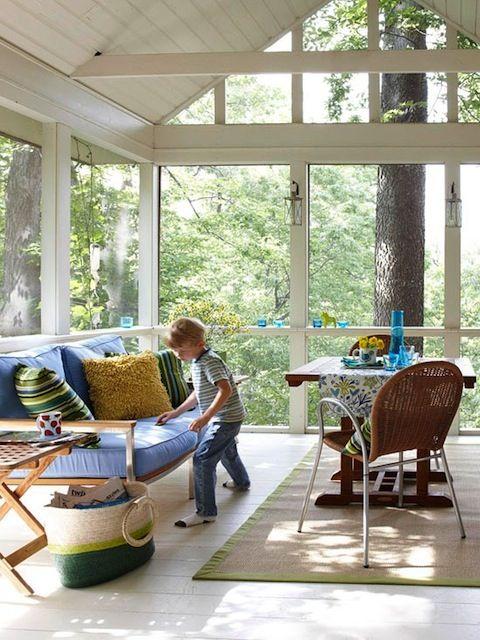 12 Amazing Family Room Ideas Indoor Porch Sunroom Designs