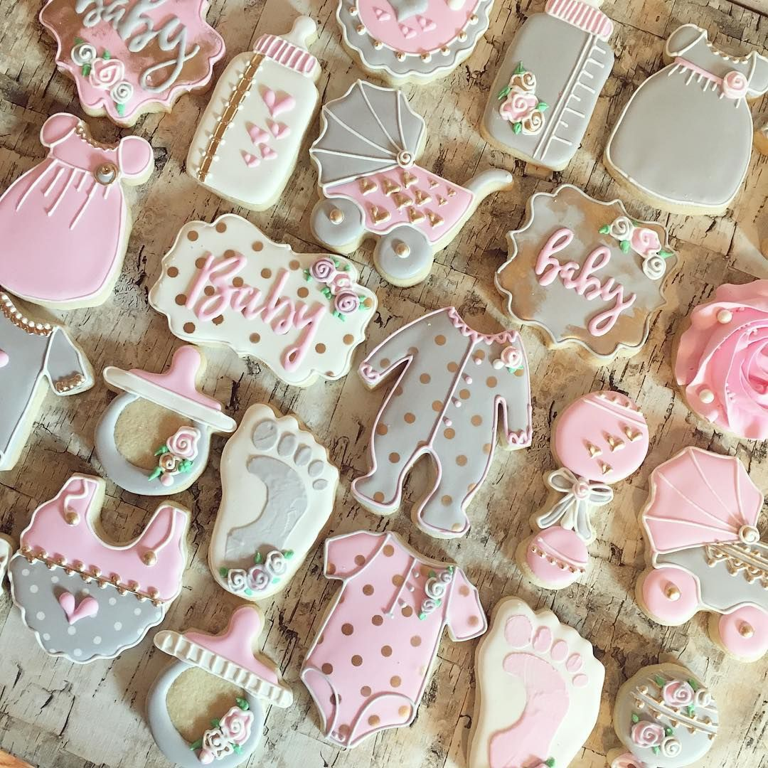 Pin By Fatima Mohammad On Cookies Baby Girl Cookies Baby Shower