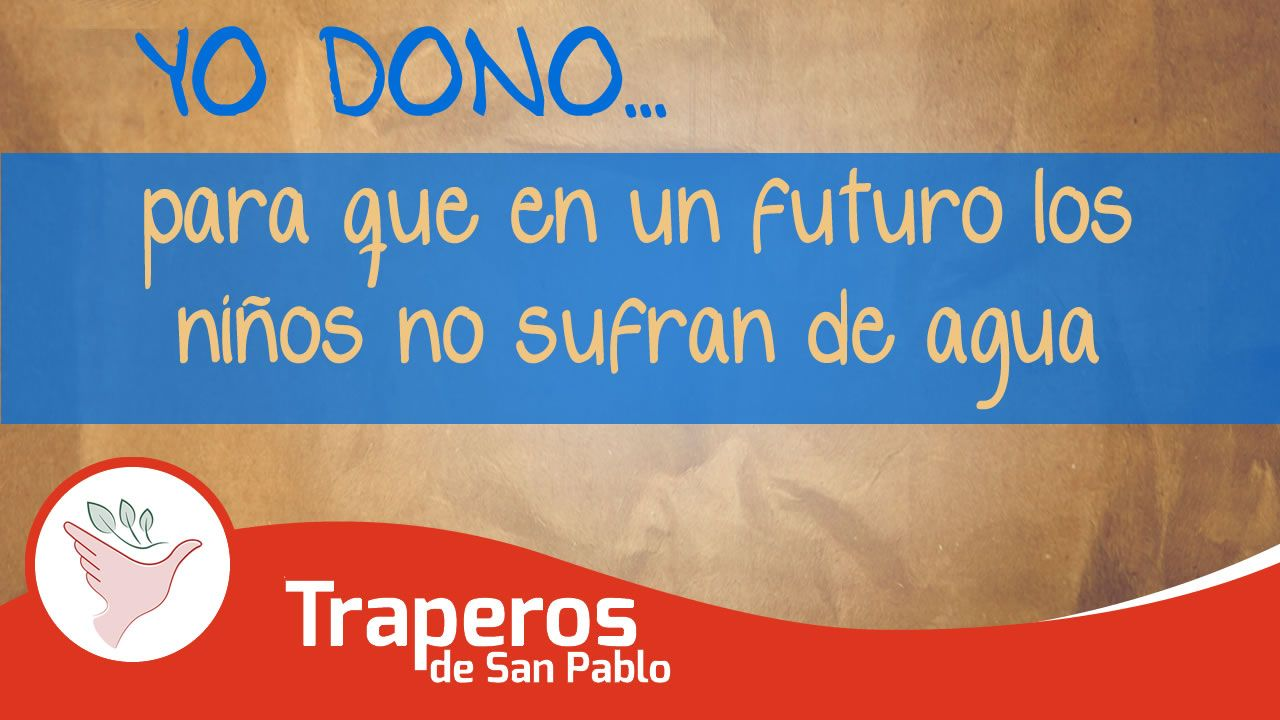 El mal tratamiento de desechos permiten la contaminación de ríos y mares, el deshielo de los nevados, la disminución de lluvias el calentamiento global, que en un futuro muy próximo nuestros hijos serán los perjudicados con la falta de agua.  Central: 258-3889 RPC: 943520010 Email: donaciones@traperosdesanpablo.org www.traperiasanpablo.org #Reciclaje #Donación #Ecología #Perú #Traperos #Traperia