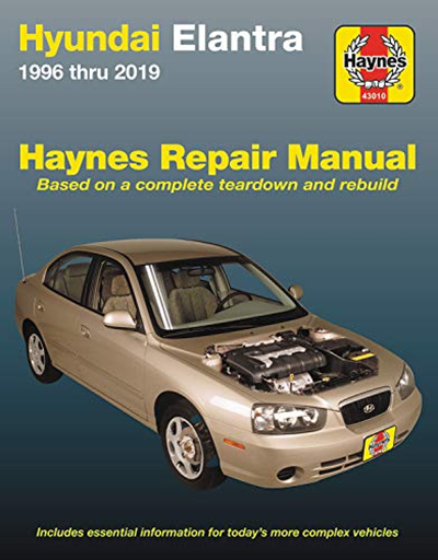 Hyundai Elantra 1996 Thru 2019 Haynes Repair Manual Based On A Complete Teardown And Rebuild Includes Essential Information For Today S More Complex Vehicles Hyundai Elantra Repair Manuals Elantra