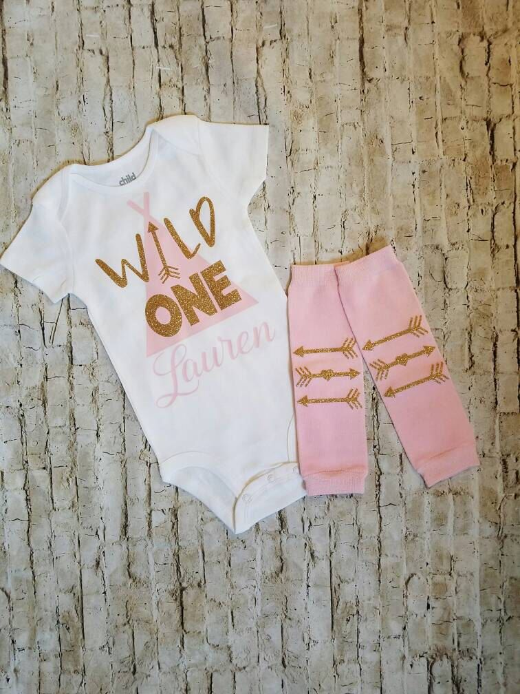 Baby girl clothes wild one outfit personalized name first birthday baby girl clothes wild one outfit personalized name first birthday girl arrows teepee 1st birthday boho negle Images