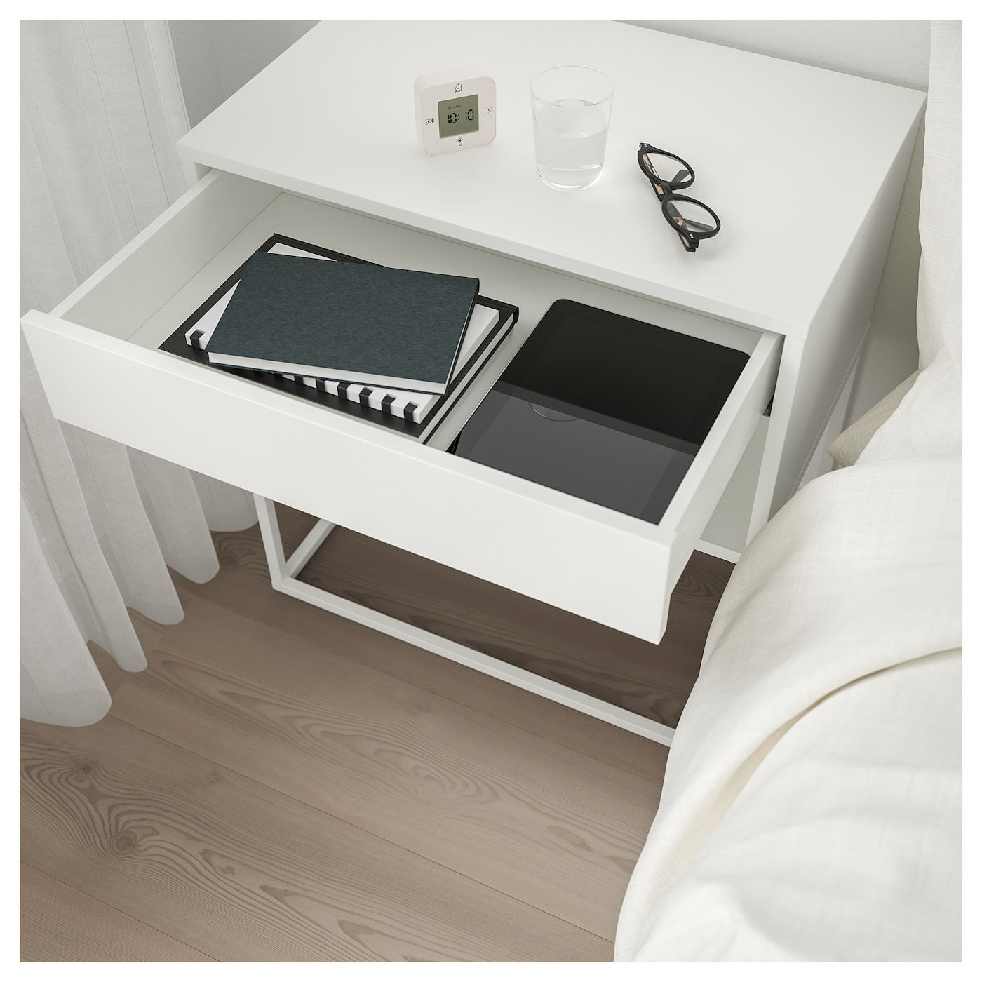 IKEA US Furniture and Home Furnishings | White nightstand