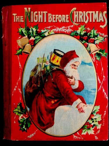 the night before christmas stories antique victorian 1900s childrens book