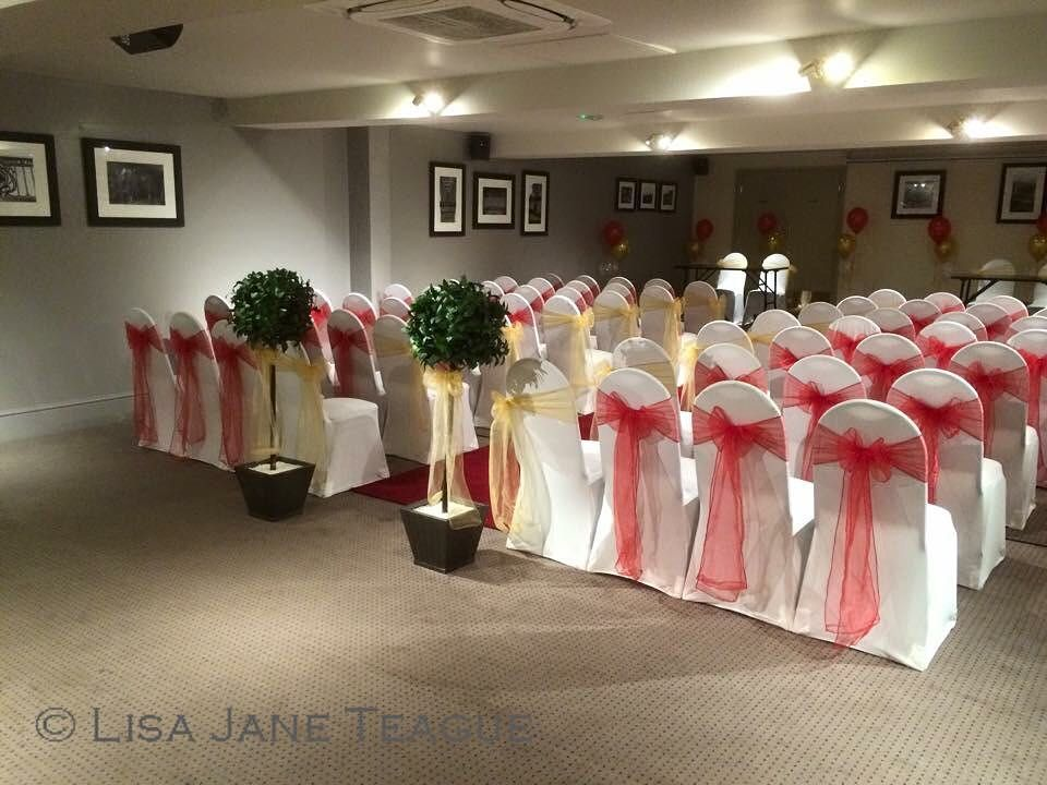 Chair Covers Malta Baby Shower Beautiful In Red Gold Xx Weddingideas Wedding Lisajaneteague Love Pretty Chaircovers Chaircoversandsashes Ceremony
