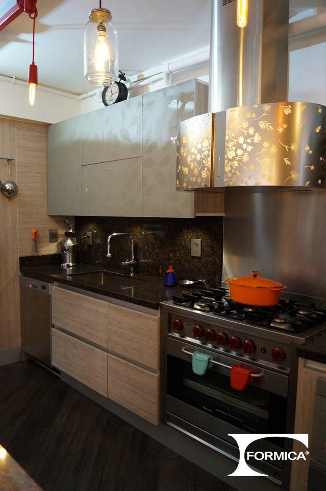 Proyecto: Cocina residencial HPL LAMITECH Ref. Provincial Oak 1501 ...