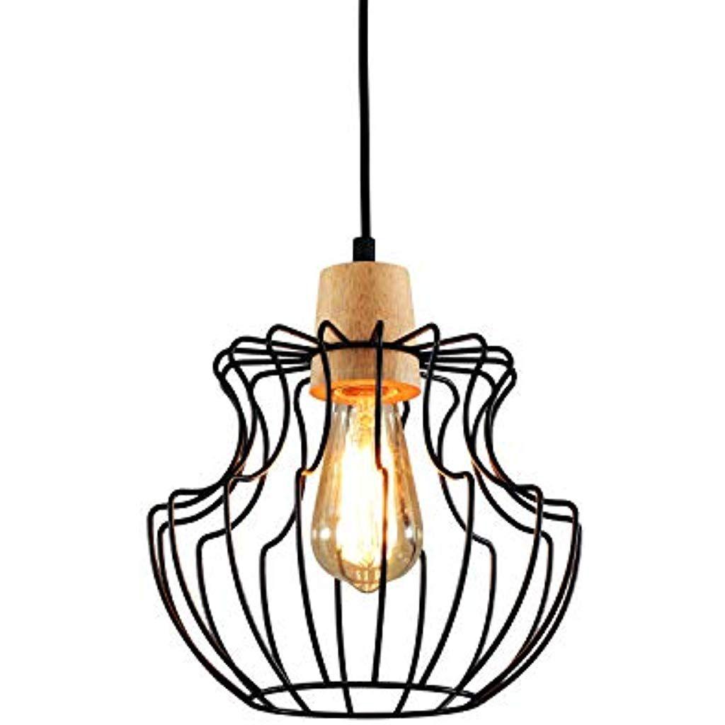 Lightess Pendellampe Vintage Industrial Pendelleuchte Retro 1 Flammig Landhausstil Lampe Rustikal Hangelampe Draht In 2020 Esstisch Landhaus Pendelleuchte Pendellampen