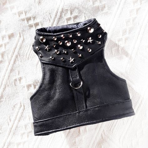 Photo of Items similar to Black leather harness for Rock Star. Escape…