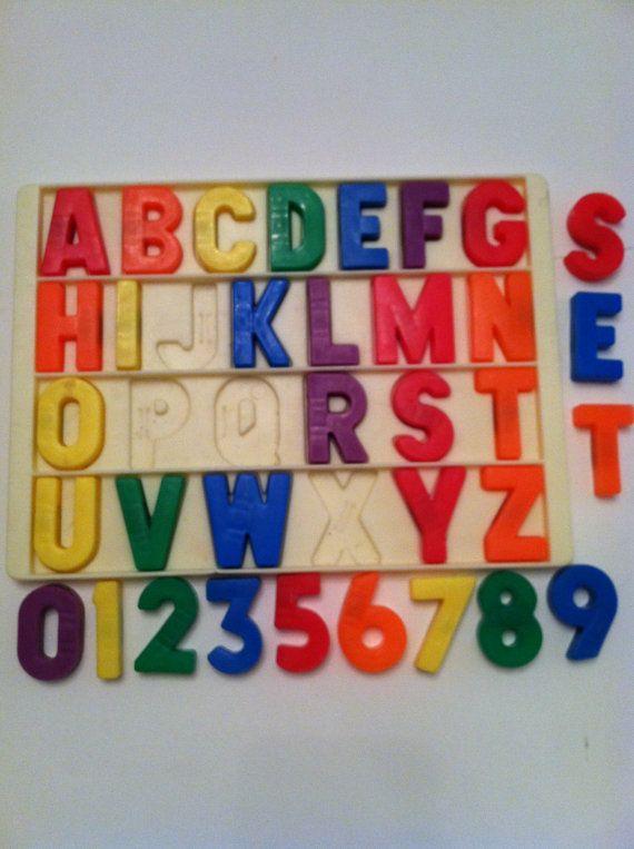 Vintage Playskool Alphabet And Number Magnets By